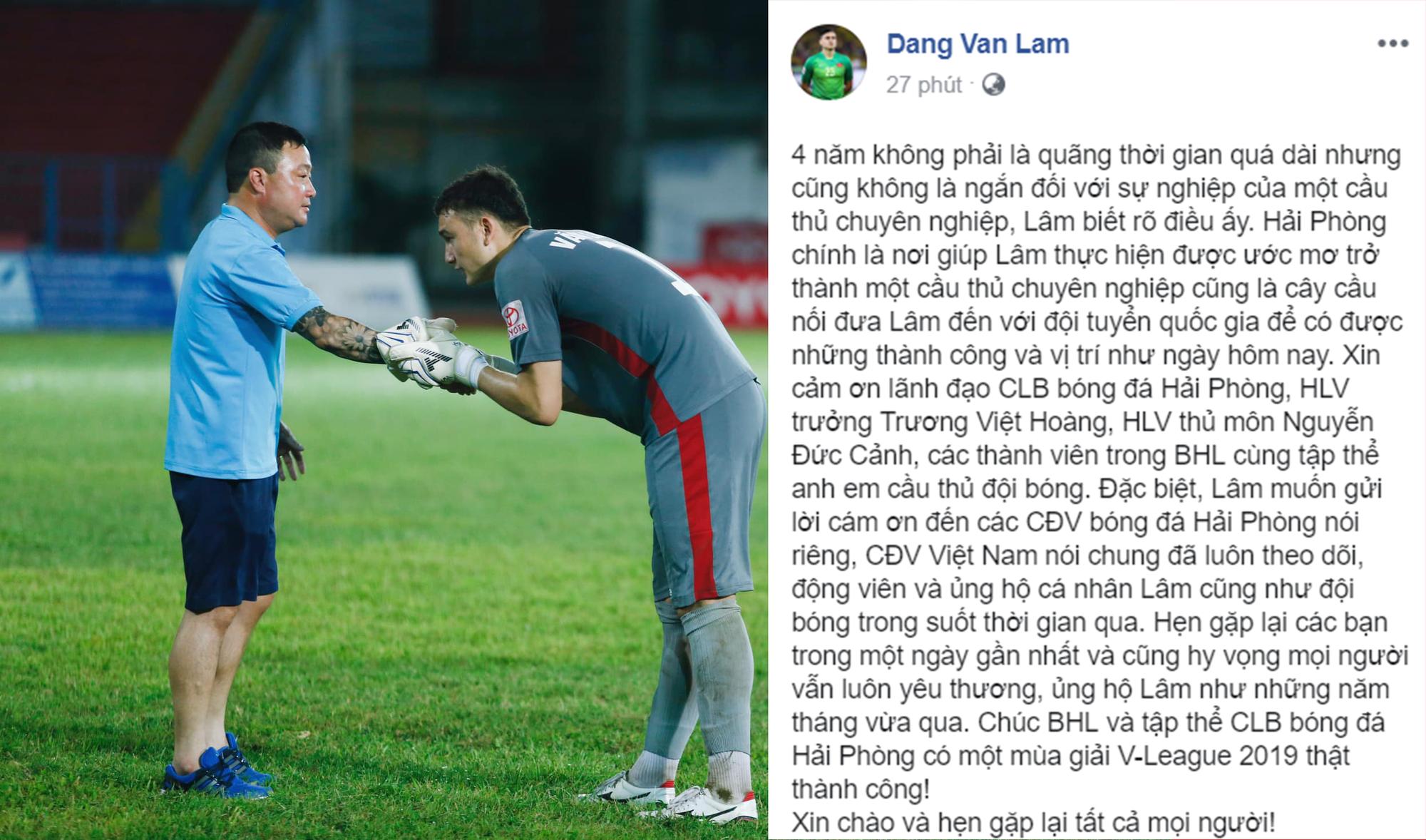 Văn Lâm về Hải Phòng nghẹn ngào tạm biệt đội bóng cũ-1