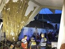 Sập tường khách sạn trong lễ cưới, gần 50 người thương vong
