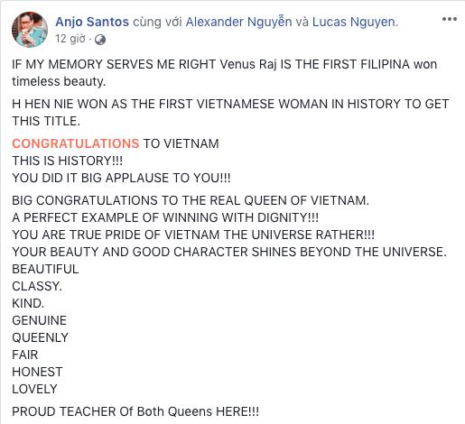 Thầy dạy catwalk từng tố Ngân Anh mua giải: Chúc mừng HHen Niê - Nữ hoàng thực sự của Việt Nam-1