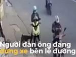 Clip: 2 xe đầu kéo đối đầu nhau, tài xế hoảng sợ nhảy khỏi buồng lái thoát nạn-1