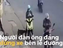 Vừa cởi mũ bảo hiểm, xe máy lao tới đâm thẳng vào người đàn ông