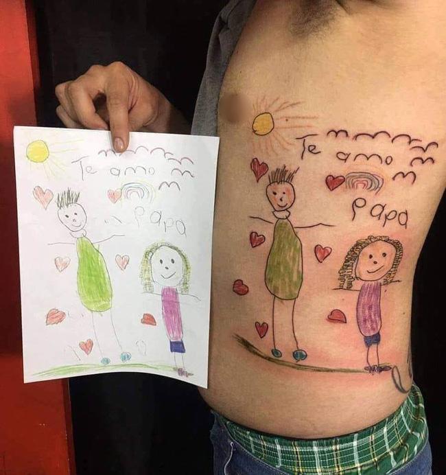 Câu chuyện gây xúc động mạnh ngày cuối năm: Ông bố trẻ xăm lên mình bức tranh cuối cùng của con gái-1