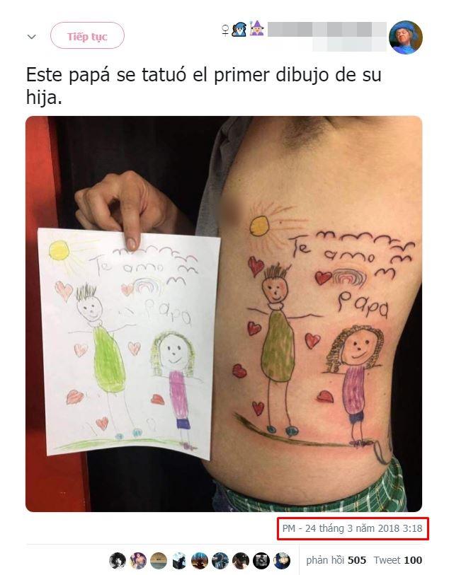 Câu chuyện gây xúc động mạnh ngày cuối năm: Ông bố trẻ xăm lên mình bức tranh cuối cùng của con gái-2