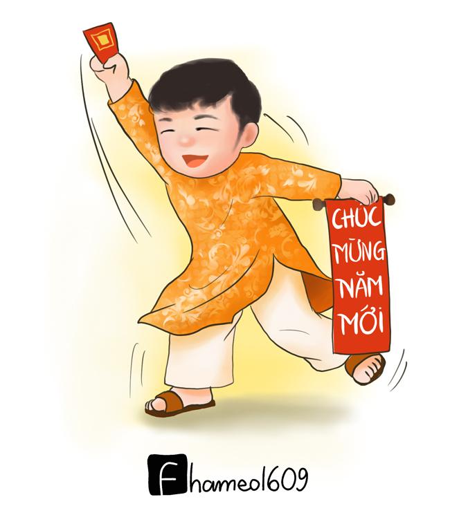 Cầu thủ Việt Nam tưng bừng đón Tết trong loạt tranh chibi đáng yêu-3