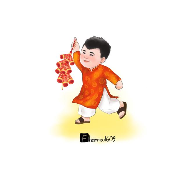 Cầu thủ Việt Nam tưng bừng đón Tết trong loạt tranh chibi đáng yêu-4
