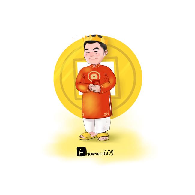 Cầu thủ Việt Nam tưng bừng đón Tết trong loạt tranh chibi đáng yêu-5