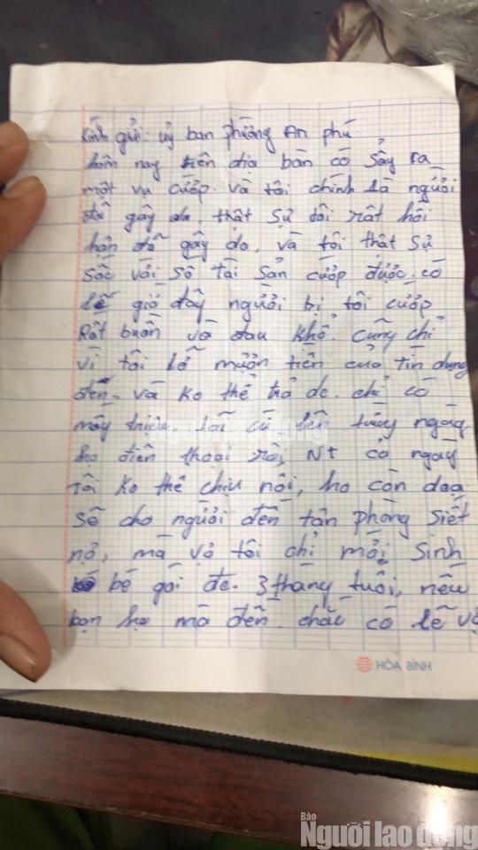 Tên cướp bí ẩn gửi trả 100 triệu đồng cùng thư xin lỗi-2
