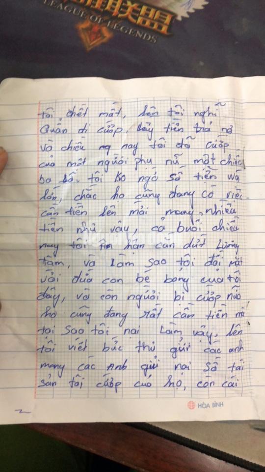 Tên cướp bí ẩn gửi trả 100 triệu đồng cùng thư xin lỗi-3