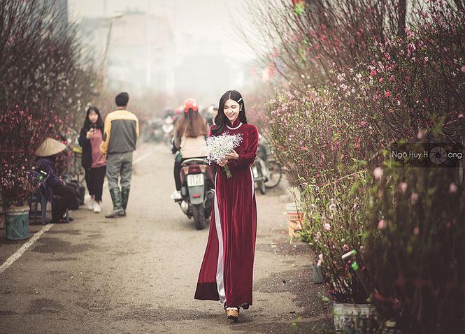 Thanh Bi tung ảnh áo dài xinh đẹp đón Tết-5
