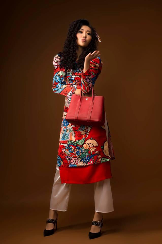 Diễn viên Thanh Hương khác lạ với style áo dài, tóc xù trong bộ ảnh đón Tết-11