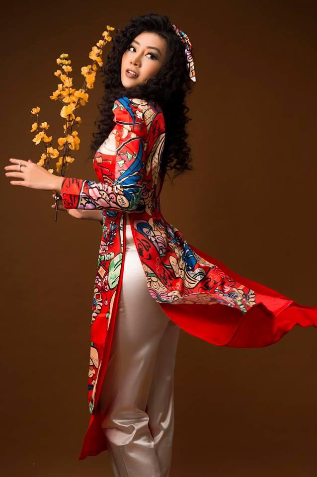 Diễn viên Thanh Hương khác lạ với style áo dài, tóc xù trong bộ ảnh đón Tết-13