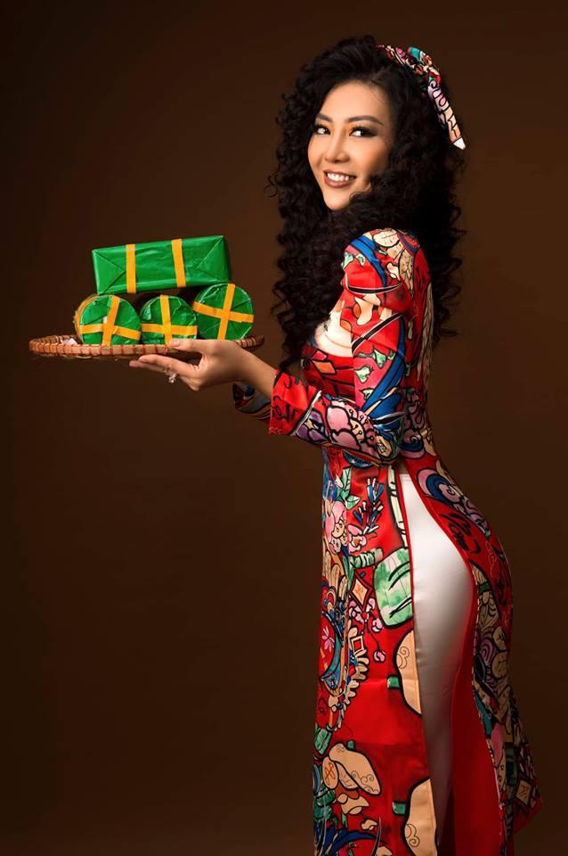 Diễn viên Thanh Hương khác lạ với style áo dài, tóc xù trong bộ ảnh đón Tết-14