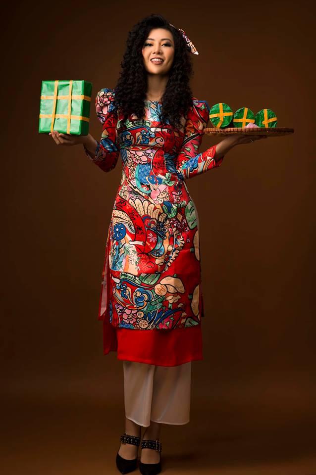 Diễn viên Thanh Hương khác lạ với style áo dài, tóc xù trong bộ ảnh đón Tết-15
