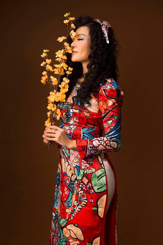 Diễn viên Thanh Hương khác lạ với style áo dài, tóc xù trong bộ ảnh đón Tết-6