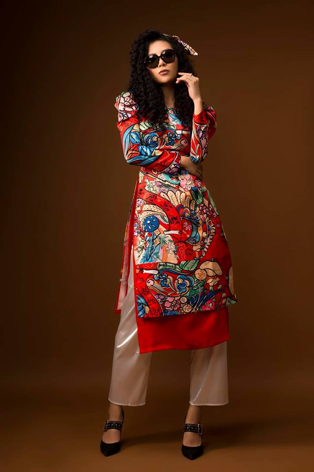 Diễn viên Thanh Hương khác lạ với style áo dài, tóc xù trong bộ ảnh đón Tết-7