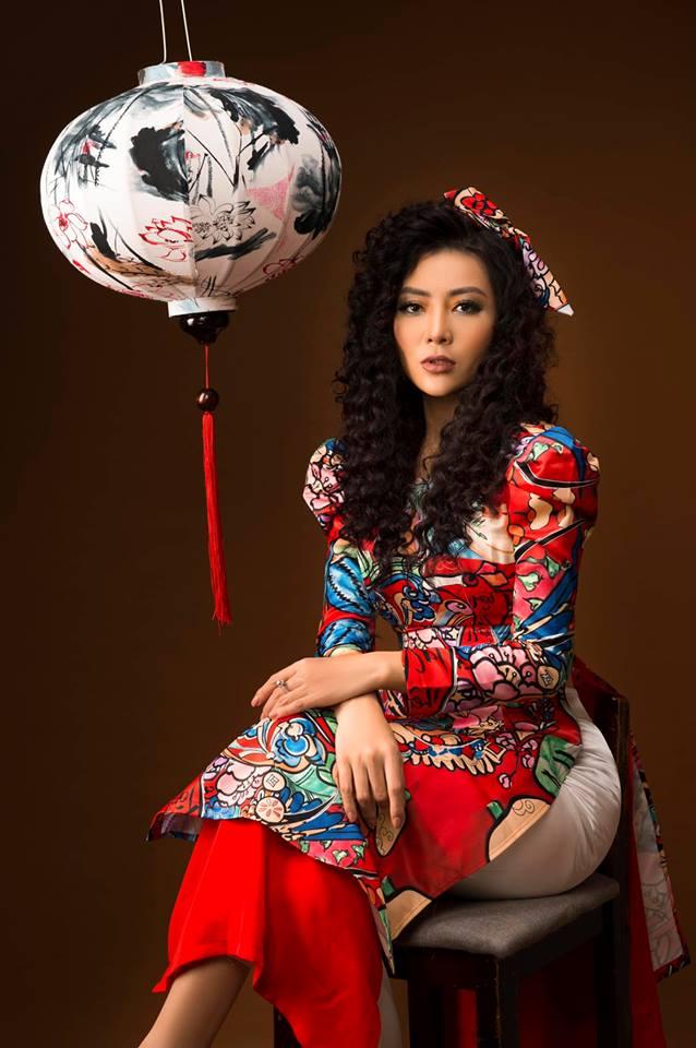 Diễn viên Thanh Hương khác lạ với style áo dài, tóc xù trong bộ ảnh đón Tết-8