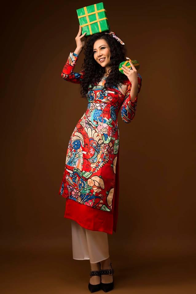 Diễn viên Thanh Hương khác lạ với style áo dài, tóc xù trong bộ ảnh đón Tết-9
