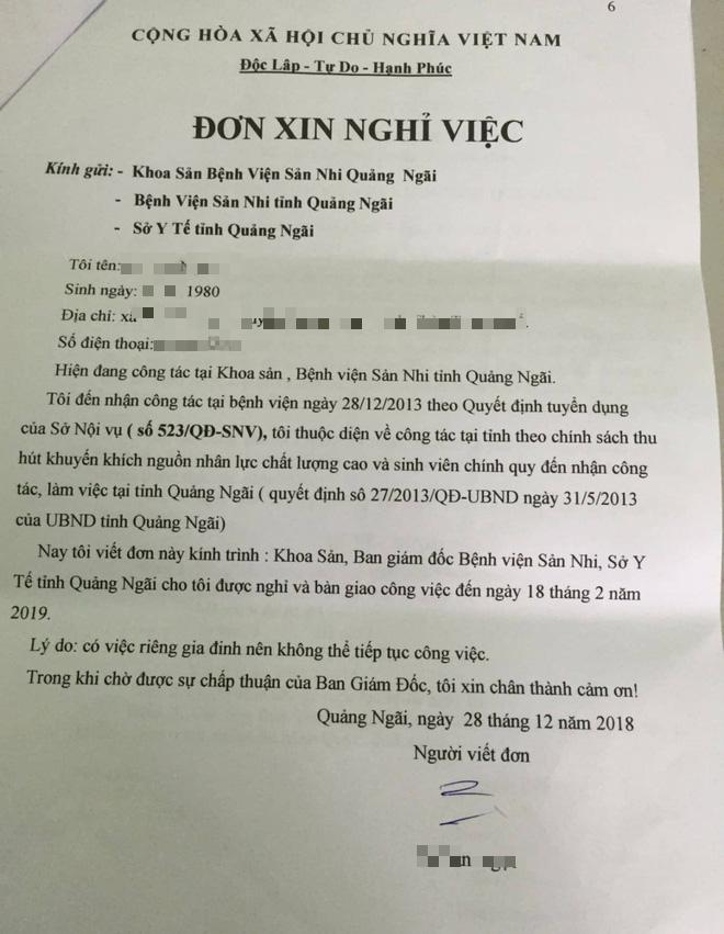 Sự thật lá đơn được cho là của BS ở Quảng Ngãi xin nghỉ việc để ủng hộ Hoàng Công Lương-2