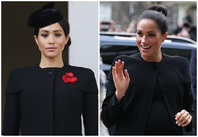 """Mặc lại đồ cũ giống chị dâu Kate, Meghan vô tình để lộ bằng chứng"""" liên quan đến nghi vấn mang thai giả-2"""