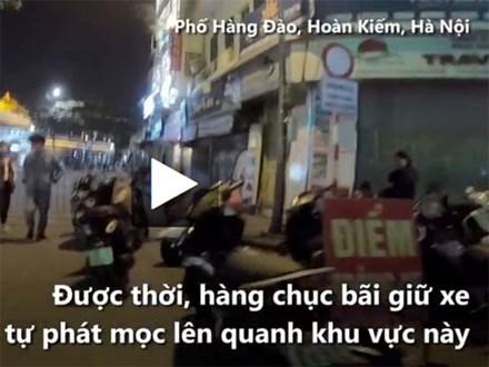 Bãi giữ xe giá 'chặt chém' bủa vây trung tâm Hà Nội dịp giáp Tết