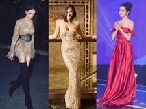 THẢM ĐỎ ĐẦU NĂM: Huyền My xinh tựa công chúa - Diệp Lâm Anh 'chơi lớn' diện nguyên set 1,8 tỷ đồng