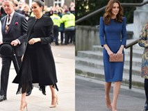 Có khi chị em dâu Kate và Meghan lại chẳng hề bất hòa, vì họ chăm diện giày đôi thế này cơ mà!