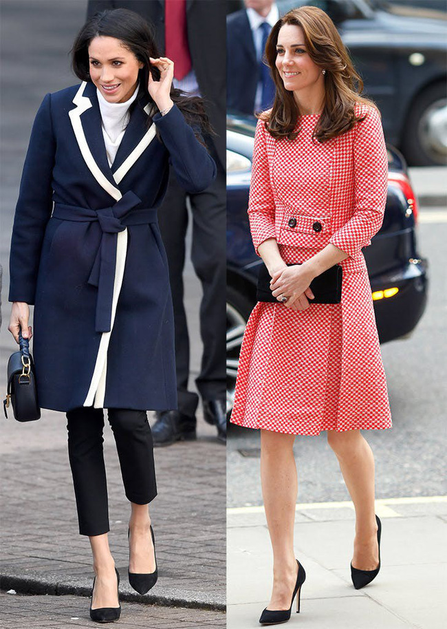 Có khi chị em dâu Kate và Meghan lại chẳng hề bất hòa, vì họ chăm diện giày đôi thế này cơ mà!-4