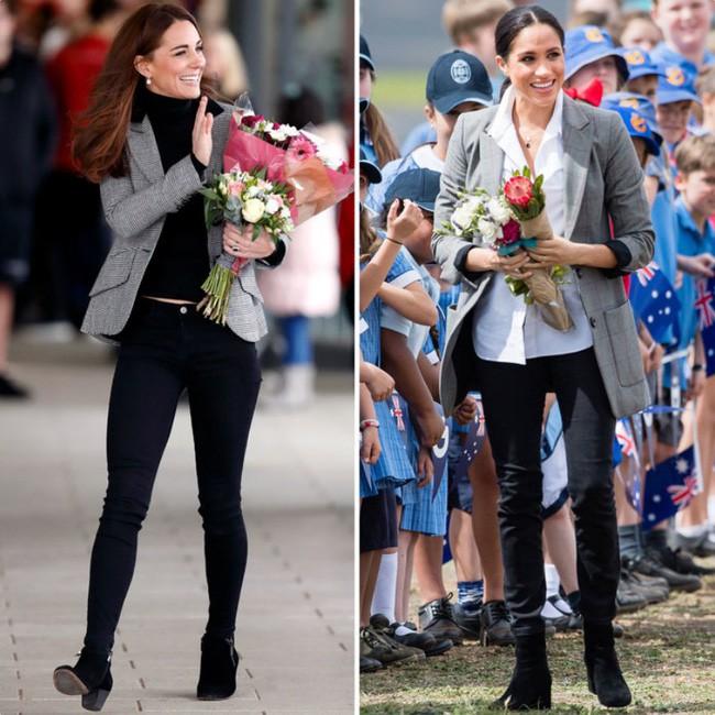 Có khi chị em dâu Kate và Meghan lại chẳng hề bất hòa, vì họ chăm diện giày đôi thế này cơ mà!-2