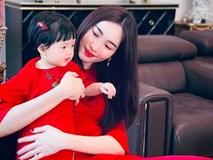 Con gái Sophia gần 1 tuổi diện Áo dài đỏ rực cực đáng yêu đón Tết cùng mẹ Đặng Thu Thảo