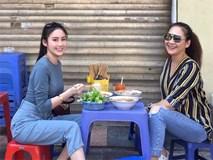 Hot girl Lào gốc Việt đón Tết ở Hà Nội, hào hứng ăn bún riêu vỉa hè