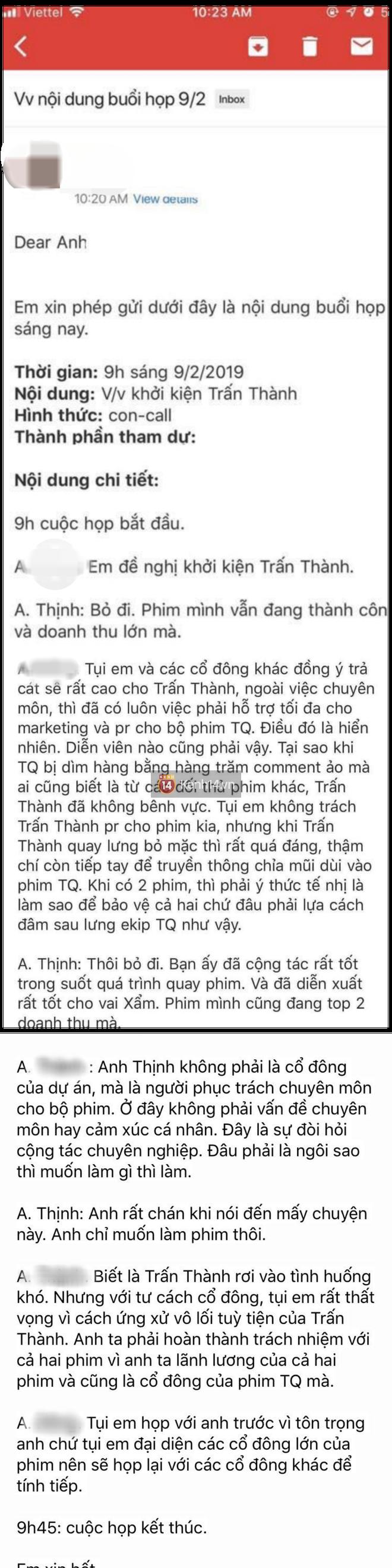 Rộ tin các cổ đông Trạng Quỳnh quyết khởi kiện Trấn Thành dù đạo diễn Đức Thịnh can ngăn-2