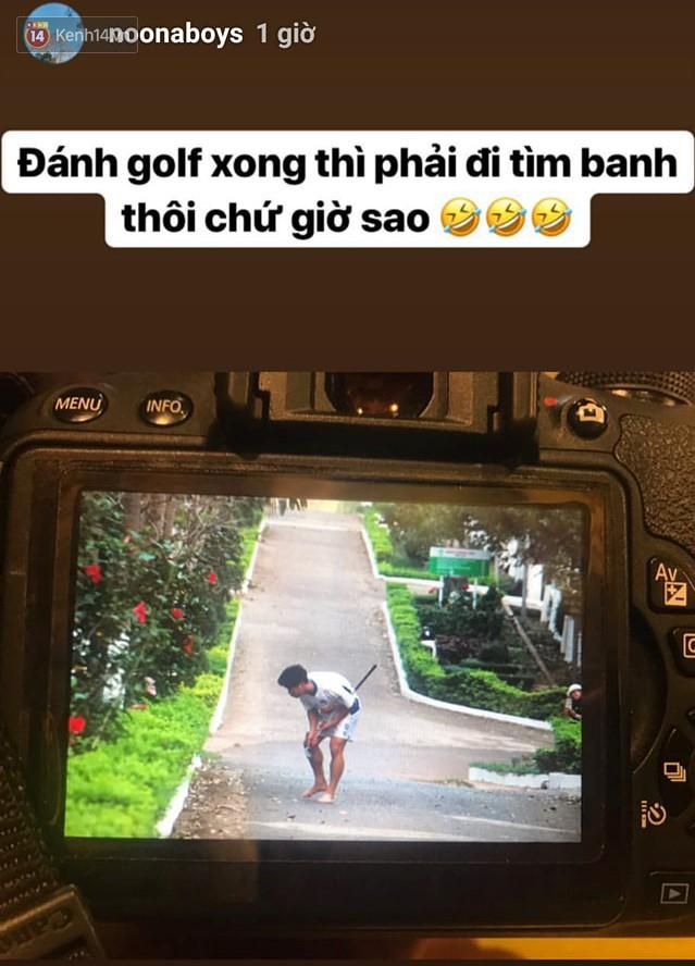 Fan bật cười với hình ảnh Công Phượng tập chơi golf trong sân học viện HAGL-1