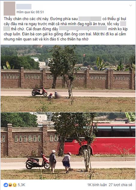 Hai cô gái vô tư tiểu bậy ở bãi đất trống giữa ban ngày, khiến cả gia đình đang ngồi ăn cơm phải đỏ mặt quay đi-1