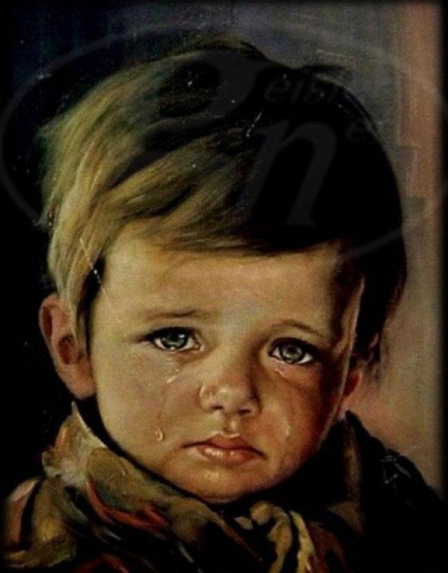 Sự thật về lời nguyền bí ẩn của bức tranh Cậu bé khóc trong hàng loạt vụ hỏa hoạn khiến nhiều người phải rùng mình-1