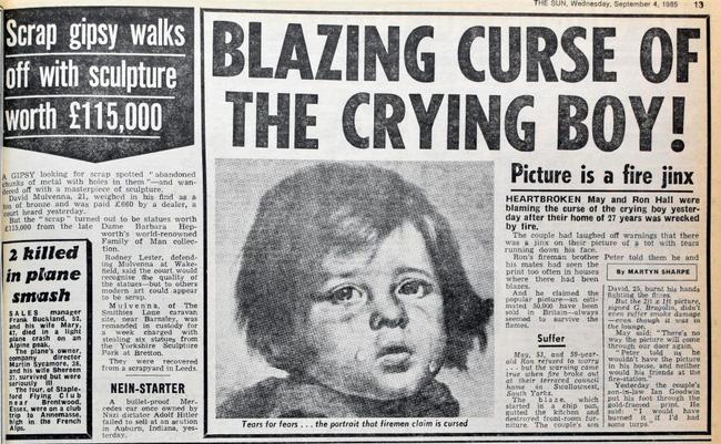 Sự thật về lời nguyền bí ẩn của bức tranh Cậu bé khóc trong hàng loạt vụ hỏa hoạn khiến nhiều người phải rùng mình-2