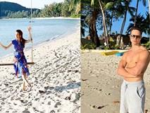 Cường Đô la đưa Subeo và Đàm Thu Trang đi du lịch, Hà Hồ cùng Kim Lý vi vu Thái Lan đầu năm