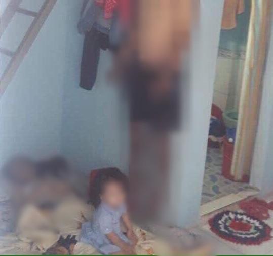 Chồng nghi sát hại vợ rồi tự tử, bỏ lại con nhỏ khóc ngất bên thi thể cha mẹ trong phòng trọ ở Đồng Nai-1