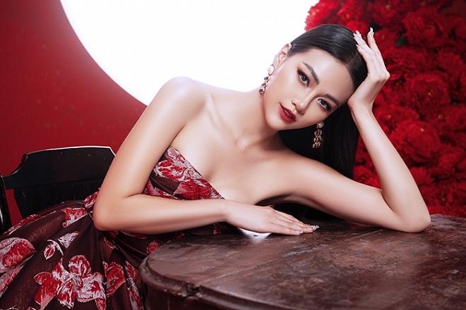 Hoa hậu Trái đất Phương Khánh tung bộ ảnh nữ hoàng quyền lực, đậm chất Á Đông-4