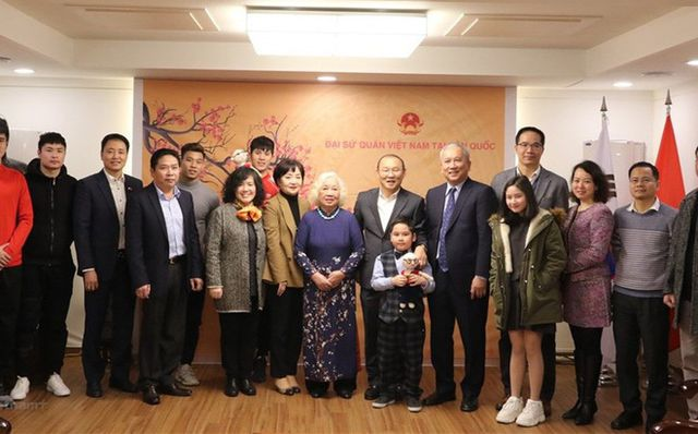 HLV Park Hang Seo gặp Văn Thanh, Đình Trọng ở Hàn Quốc-1
