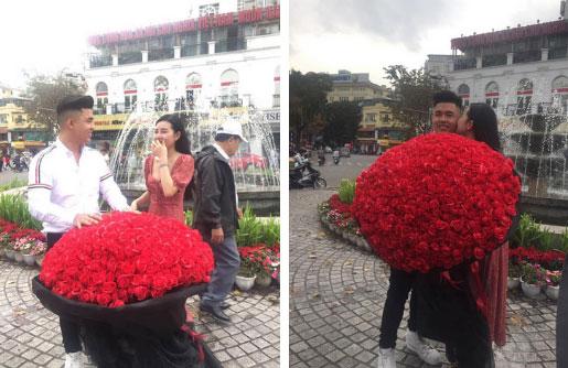 Lê Âu Ngân Anh nhận được bó hoa khủng dịp Valentine, nhưng danh tính người tặng mới khiến dân mạng bất ngờ-1