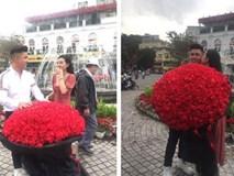 Lê Âu Ngân Anh nhận được bó hoa khủng dịp Valentine, nhưng danh tính người tặng mới khiến dân mạng bất ngờ