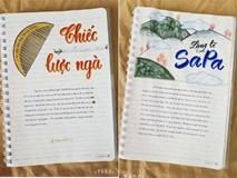 Nữ sinh lớp 9 khiến dân mạng phát cuồng khi biến vở Văn thành tác phẩm hội hoạ đẹp mê hồn