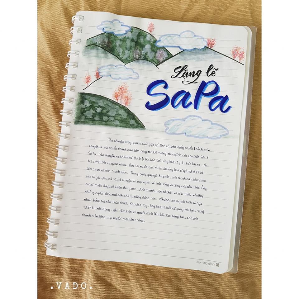 Nữ sinh lớp 9 khiến dân mạng phát cuồng khi biến vở Văn thành tác phẩm hội hoạ đẹp mê hồn-5