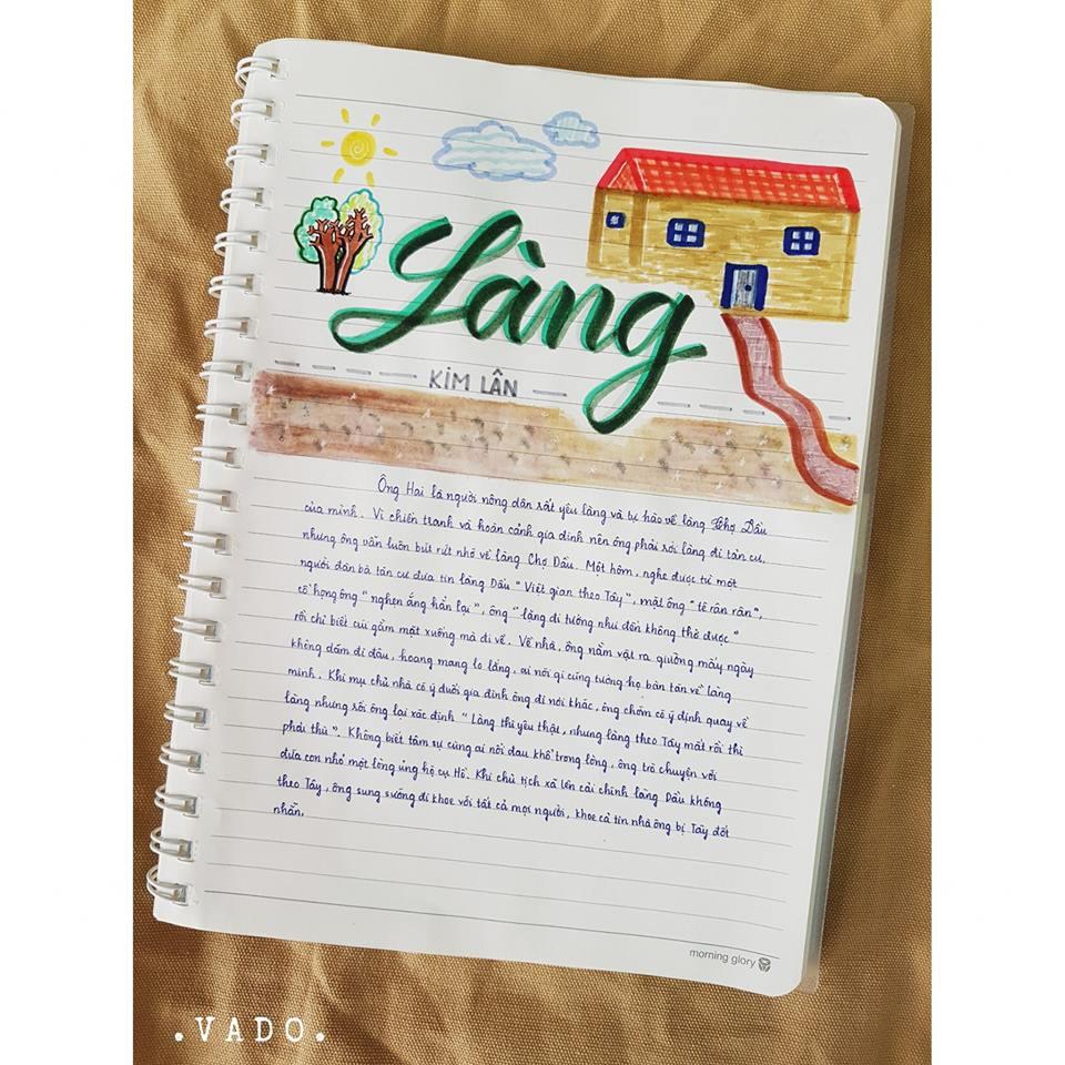 Nữ sinh lớp 9 khiến dân mạng phát cuồng khi biến vở Văn thành tác phẩm hội hoạ đẹp mê hồn-8