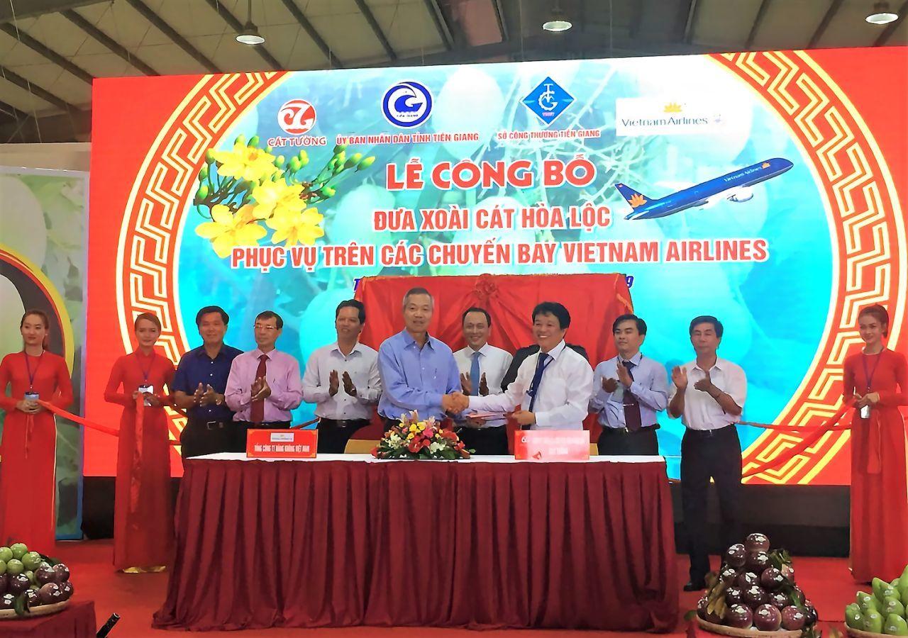Xoài cát Hòa Lộc mời gọi đầu tư trên chuyến bay Vietnam Airlines-1
