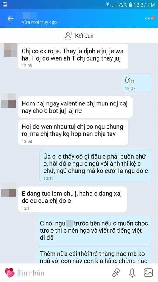 Valentine bị người yêu cũ của chồng nhắn tin khoe bọn chị đã ngủ với nhau, vợ trẻ phản đòn ai nghe cũng hả hê-2