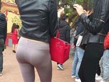 Đi chùa cầu duyên nhưng lại mặc quần bó sát lộ cả viền nội y, cô gái khiến cả MXH xấu hổ thay
