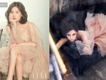 """Một chiếc váy 2 số phận: Song Hye Kyo sang chảnh như bà hoàng, Angela Baby lại bị ví như """"cá vàng bơi tung tăng"""""""