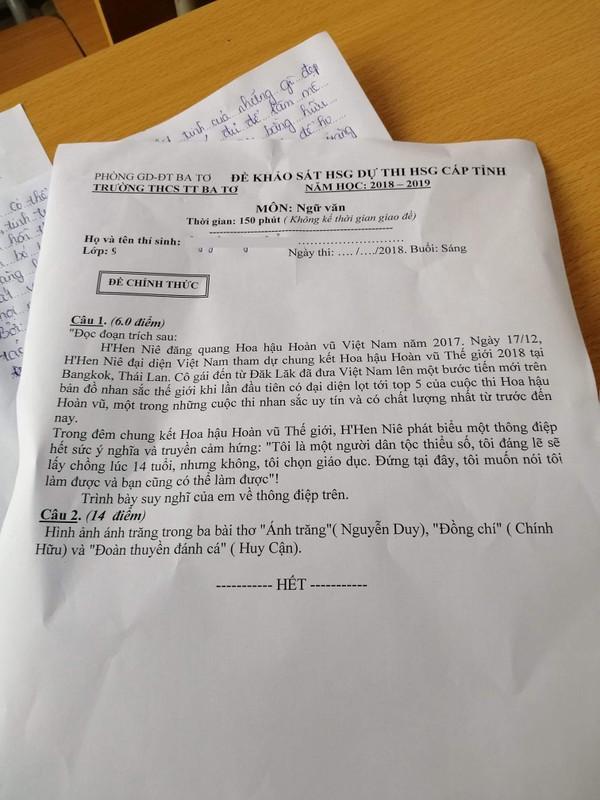 Vì sao phát biểu của H'Hen Niê xuất hiện trong đề thi học sinh giỏi?-2