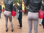 Diện mẫu quần lạ, nữ người mẫu trông như không mặc gì xuống phố-4